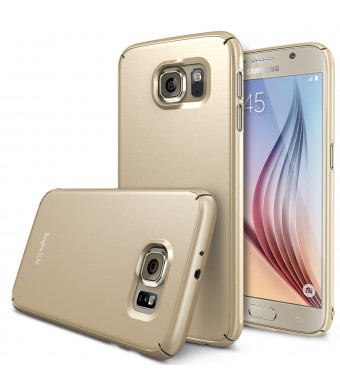 Galaxy S6 Case - Ringke SLIM ***Top and Bottom Coverage*** [ROYAL GOLD][FREE HD Film] Advanced Dual Coating Technology All Around Edge Protection Har