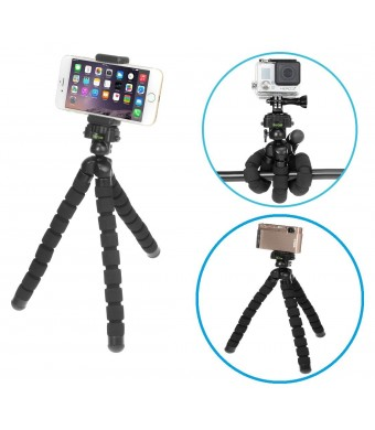 iKross Universal Smartphone / GoPro / Digital Camera Flexible Tripod Stand For Samsung Galaxy S6 / S6 Edge, Apple iPhone 6 / 6 Plus, HTC One M9 (2015