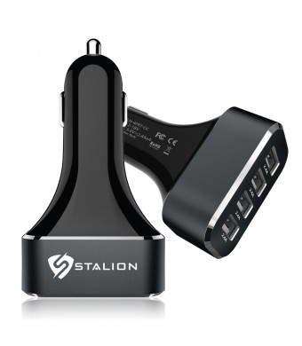 Car Charger: Stalion 4 USB Port Electric [24 Month Warranty] Universal Car Accessories for Apple iPhone 4 4s 5 5s 5c 6, Samsung Galaxy Note 2 3 4, Sa