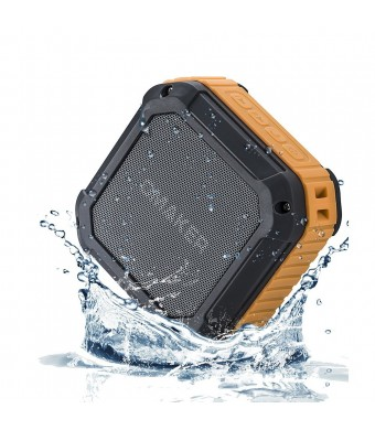 [Best OutdoorandShower Bluetooth Speaker Ever] Omaker M4 Portable Bluetooth 4.0 Speaker with 12 Hour Playtime for Outdoors/Shower (Orange)