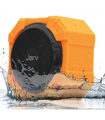 Jarv X96 Rugged Indoor / Outdoor 5 Watt Bluetooth Portable Speaker with X BASS Passive Sub, IPX5 Rated Water Resistance, Shockproof and Dustproof , w