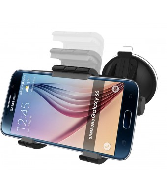 Samsung Galaxy S6 and S6 Edge Easy-dock Car Mount Holder [Windshield/Dashboard Cradle] **New 2015 Version** Encased Lifetime Warranty