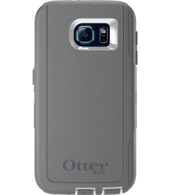 OtterBox DEFENDER SERIES for Samsung Galaxy S6 - Retail Packaging - Glacier (White/Gunmetal Grey)