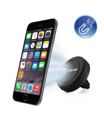 Car Mount, iClever IC-CH05 Air Vent Universal Smartphone Magnetic Car Mount Holder Cradle for Apple iPhone 6 6 Plus, iPhone 5S 5C 5 4S, Samsung Galax