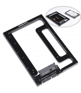 """Sabrent 2.5""""  SSD and SATA Hard Drive to Desktop 3.5""""  SATA Bay Converter Mounting Kit (BK-PCBS)"""