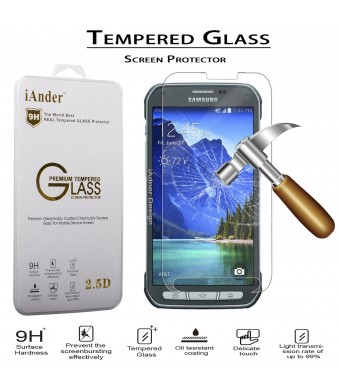 iAnder Premium Tempered Glass Screen Protector for Samsung Galaxy S5 Active - Screen Protector for Samsung Galaxy S5 Active