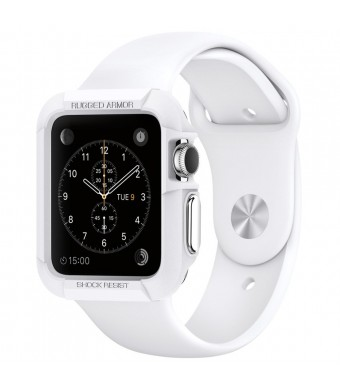 Apple Watch Case, Spigen [Resilient] Apple Watch 42mm Case Impact Protection **NEW** [Rugged Armor] [White] - [Include 2 Screen Protectors] Ultimate