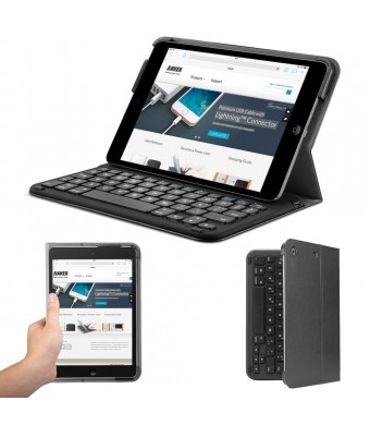 Anker Bluetooth Folio Keyboard Case for iPad mini 3 / mini 2 / mini with 4-Month Battery Life Between Charges and Comfortable Low-Profile Keys TC840