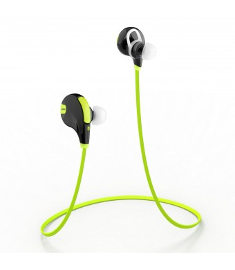 Aukey Bluetooth 4.1 Headset Wireless Stereo Jogger, Running, Sport, Gym exercise Headphones Earphone with AptX, Mic for iPhone, Smartphones