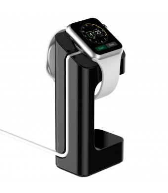 Apple Watch Stand, - Updated Version - JETech Apple Watch Charging Stand Station Dock Platform for 38/42mm All Models (Black)