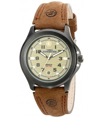 Timex Men's Metal Field EXPEDITION Brown Leather Strap Watch #T47012