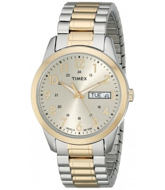 Timex Men's Two-toned Watch With Expansion Band