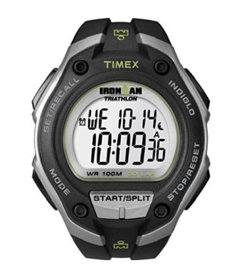 "Timex Men's T5K412 ""Ironman Traditional""  30-Lap Oversize Watch with Black Resin Strap"