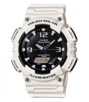 Casio Men's AQ-S810WC-7AVCF Analog-Digital Display Quartz White Watch