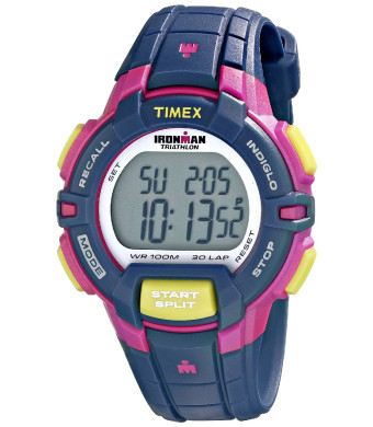 """Timex Women's T5K8139J """"Ironman""""  Blue Digital Display Watch with Resin Band"""