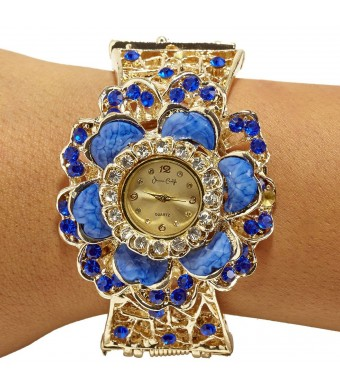 Metal Gold and Cobait Ladies Watch By Jessica Carlyle!!