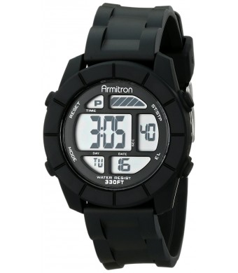 Armitron Sport Unisex 45/7043BLK Digital Chronograph Black Resin Strap Watch