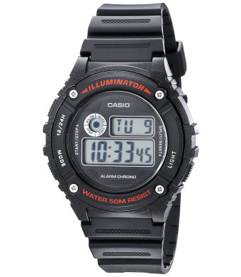 Casio Unisex W-216H-1AVCF Illuminator Black Watch