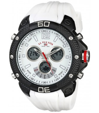 U.S. Polo Assn. Sport Men's US9495 Analog-Digital Display Analog Quartz White Watch