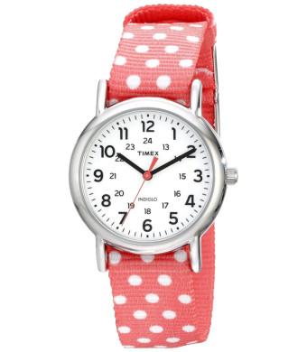 Timex Women's TW2P656009J Weekender Reversible Analog Quartz Pink Watch