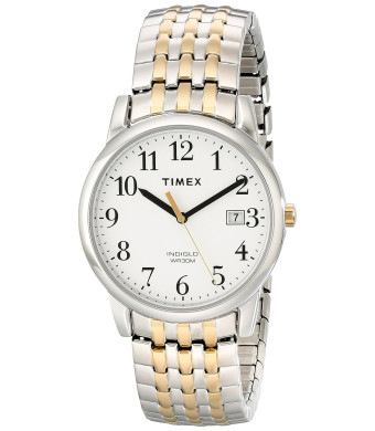 Timex Men's T2P2959J Easy Reader Analog Display Analog Quartz Two Tone Watch