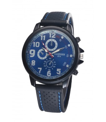 Bear Motion Design Casual Sport Watch (WH078) with Blue Dial Plate