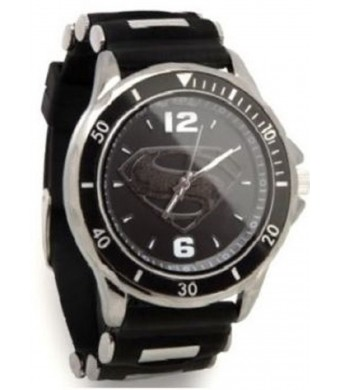Superman Man of Steel Silicone Black Watch (MOS9011)