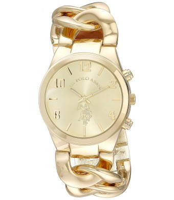 U.S. Polo Assn. Women's USC40069 Analog Display Analog Quartz Gold Watch