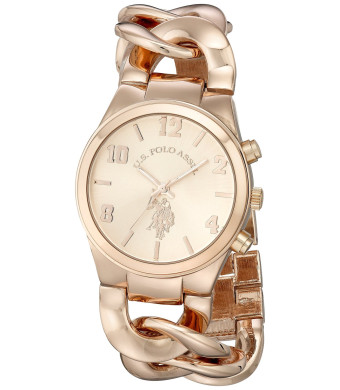 U.S. Polo Assn. Women's USC40070 Analog Display Analog Quartz Rose Gold Watch