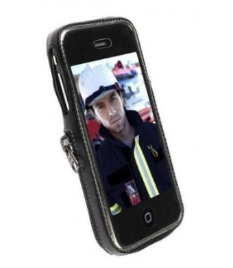 Krusell Classic Case for iPhone 3G, 3G S (Black,Grey)