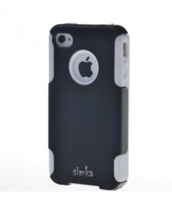Simka Noble Shield Case for iPhone 4 and iPhone 4S (Black / White)