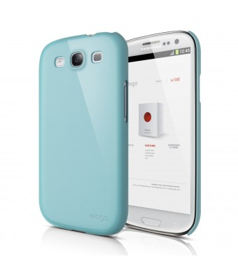 elago G5 Slim Fit Case for Verizon/ATandT/T-Mobile/Sprint Samsung Galaxy S3 - Eco Pack - Glossy Coral Blue