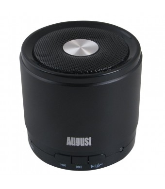 August MS425 Portable Bluetooth Wireless Speaker with Microphone - Powerful Wireless Speaker and Cell Phone Hands Free Kit - Compatible with iPhones,