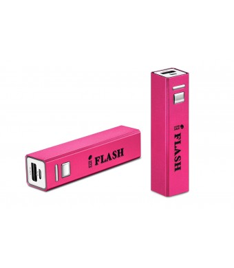 "iFlash Mini 2600mAh Ultra-Compact ""Lipstick""  Size External Battery Pack Charger (Premium Samsung Battery Cell and Metal Enclosure Design) for iPhon"