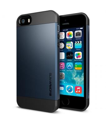 iPhone 5S Case, Spigen Slim Armor S Case for iPhone 5/5S - Metal Slate (SGP10365)