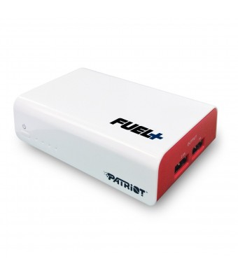 Patriot FUEL+ 9000mAh Dual-Port Rechargeable Battery Power Bank With Output Max. 3.5A ( 1A+2.5A) and 2-Year Warranty For Smartphoneand Tablet PCPB900