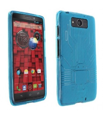 Droid Maxx Case, Cruzerlite Bugdroid Circuit TPU Case Compatible for Motorola Droid Maxx (Late 2013) - Teal
