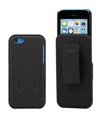 Aduro Shell Holster Combo Case for Apple iPhone 5C with Kick-Stand and Belt Clip (Atandt, Verizon, T-Mobile and Sprint)