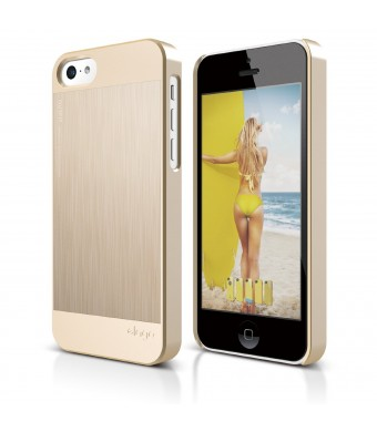 elago S5C Outfit Morph MX Aluminum and Polycarbonate Dual Case for the iPhone 5C - eco friendly Retail Packaging (Gold / Gold)