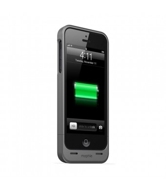 mophie Extended Battery Case for iPhone 5/5S - Retail Packaging - Black