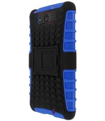 Motorola Droid Ultra / Maxx Case, MPERO IMPACT SR Series Kickstand Case for Motorola DROID MAXX / DROID ULTRA XT1080 XT1080M - Black / Blue