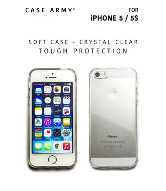 Apple iPhone 5 | 5S | 5G Case, Case Army Scratch-Resistant Slim Clear Case for Apple iPhone 5 | 5S | 5G Silicone Crystal Clear Shock-Dispersion Techn