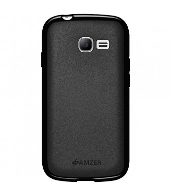 Amzer Pudding Soft Gel TPU Skin Fit Case Cover for Samsung Galaxy Star Pro GT-S7262 - Retail Packaging - Black