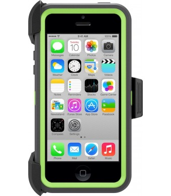 OtterBox Defender Series Case for Apple iPhone 5c - Frustration-Free Packaging - Cucumber (Apple Green/Slate Grey)