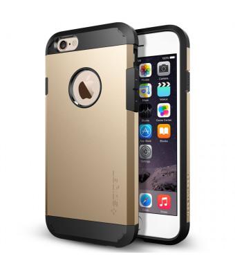 iPhone 6 Case, Spigen [HEAVY DUTY] Tough Armor Case for iPhone 6 (4.7-Inch) - Champagne Gold (SGP10970)