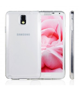 Note 3 Case, JETech Samsung Galaxy Note 3 Case Cover Soft Clear Shock-Absorption Bumper for Samsung Galaxy Note 3 Note III N9000 - Soft Clear