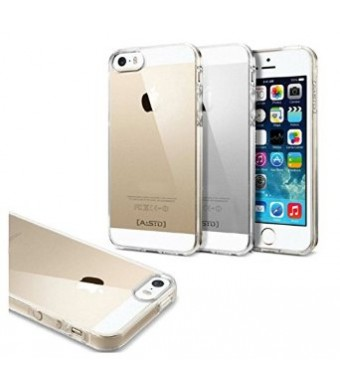 All New Design for iPhone 5/5s case, Crystal Clear, Anti-Scratch Material, Transparent Soft Silicone, Protective Slim-Fit Case for iPhone 5/5s ((LIFE