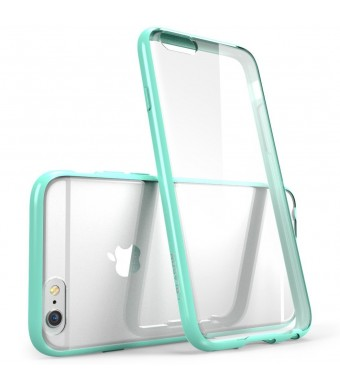 iPhone 6 Plus Case , [Scratch Resistant] i-Blason **Clear** [Halo Series] Apple iPhone 6 Plus Hybrid Bumper Case 5.5 inch Cover (Clear/Green)