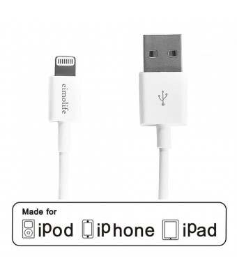 eimolife Apple MFi Certified Lightning Cable to USB Charger Cord for iPhone(5/5S/5C), iPad(Air/4th Generation), iPad Mini/Mini Retina, iPod Touch 5th