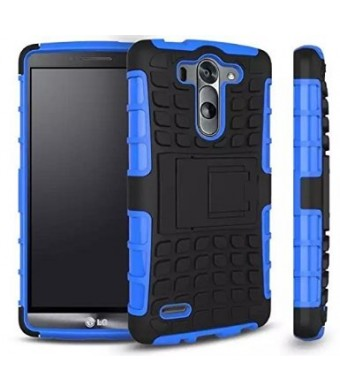 LG G3 Case, LG G3 Phone Case- Tough Armor Dual Layer Hybrid Hard/Soft Protective Armorbox [otterbox alternative] Case by Cable and Case - Blue Armor